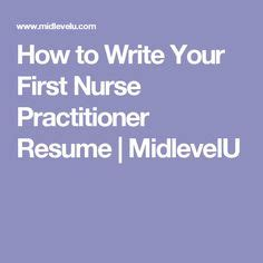 Nurse practitioner resume intelli source